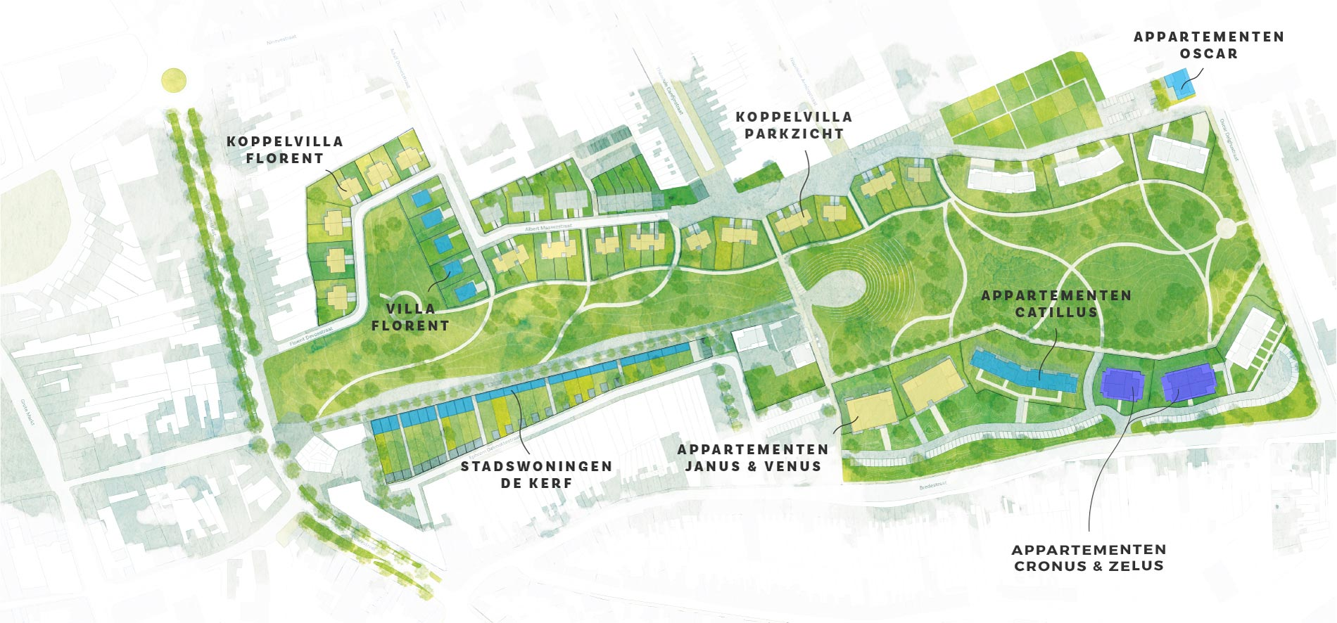 De Stadstuin Ronse map